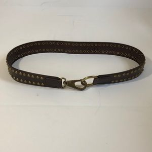 Banana Republic brown leather rivet belt size med.